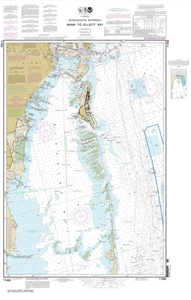 Picture of 11465 - Intracoastal Waterway - Miami To Elliott Key Nautical Chart