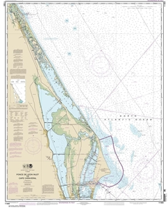 Picture of 11484 - Ponce de Leon Inlet To Cape Canaveral Nautical Chart