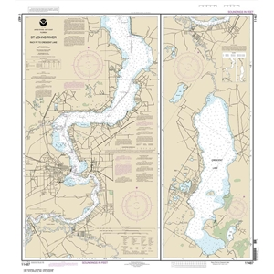 Picture of 11487 - St. Johns River - Racy Point To Crescent Lake Nautical Chart