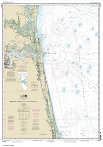 Picture of 11488 - Amelia Island To St. Augustine Nautical Chart