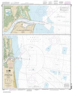 Picture of 11490 - Approaches To St. Johns River Nautical Chart