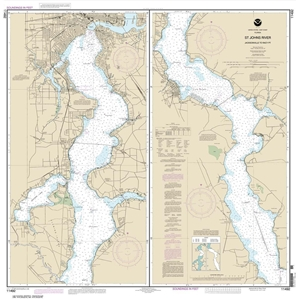 Picture of 11492 - St. Johns River - Jacksonville To Racy Point Nautical Chart