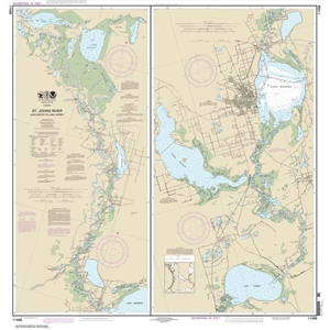 Picture of 11498 - St. Johns River - Lake Dexter To Lake Harney Nautical Chart