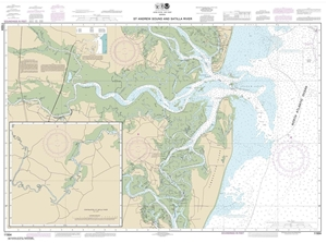 Picture of 11504 - St. Andrew Sound And Satilla River Nautical Chart