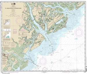 Picture of 11513 - St. Helena Sound To Savannah River Nautical Chart