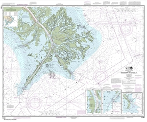 Picture of 11361 - Mississippi River Delta Nautical Chart