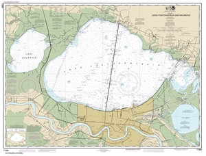Picture of 11369 - Lakes Pontchartrain And Maurepas Nautical Chart