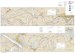 Picture of 11370 - Mississippi River - New Orleans To Baton Rouge Nautical Chart