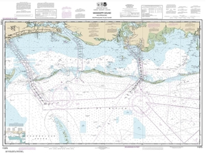 Picture of 11373 - Mississippi Sound And Approaches Dauphin Island To Cat Island Nautical Chart