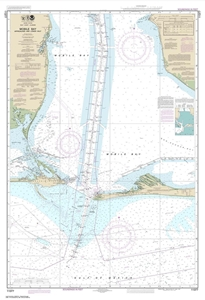 Picture of 11377 - Mobile Bay Approaches And Lower Half Nautical Chart