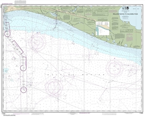 Picture of 11344 - Rollover Bayou To Calcasieu Pass Nautical Chart