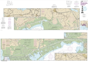 Picture of 11350 - Intracoastal Waterway - Wax Lake Outlet To Forked Island Including Bayou Teche, Vermilion River And Freshwater Bayou Nautical Chart