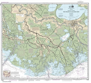 Picture of 11352 - Intracoastal Waterway - New Orleans To Calcasieu River East Section Nautical Chart