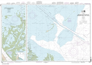 Picture of 11353 - Baptiste Collette Bayou To Mississippi River Gulf Outlet Nautical Chart