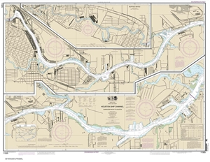 Picture of 11325 - Houston Ship Channel - Carpenters Bayou To Houston Nautical Chart