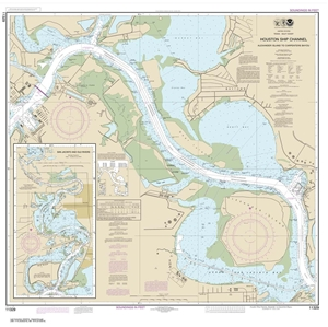 Picture of 11329 - Houston Ship Channel - Alexander Island To Carpenters Bayou Nautical Chart