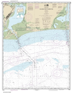 Picture of 11341 - Calcasieu Pass To Sabine Pass Nautical Chart