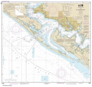 Picture of 11391 - St. Andrew Bay Nautical Chart