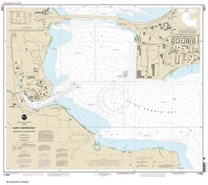 Picture of 11392 - St. Andrew Bay - Bear Point To Sulphur Point Nautical Chart