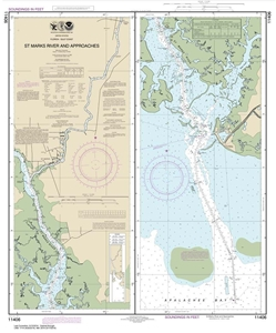 Picture of 11406 - St. Marks River And Approaches Nautical Chart