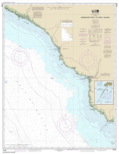 Picture of 11407 - Horseshoe Point To Rock Islands Nautical Chart