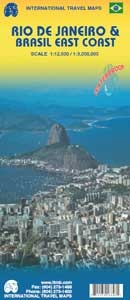 Picture of International Travel Maps - Rio de Janeiro & Brazil East Coast