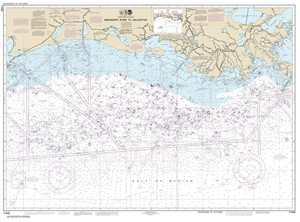 Picture of 11340 - Mississippi River To Galveston Nautical Chart