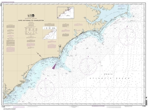 Picture of 11520 - Cape Hatteras To Charleston Nautical Chart