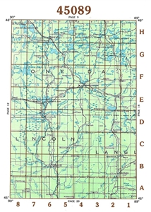 Picture of 45089 - Wisconsin Topographic Maps
