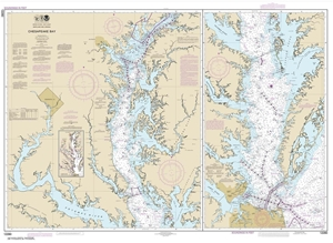 Picture of 12280 - Chesapeake Bay Nautical Chart