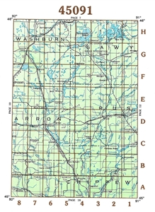Picture of 45091 - Wisconsin Topographic Maps