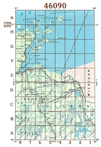 Picture of 46090 / 47090 - Wisconsin Topographic Maps