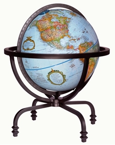 "Picture of Auburn 12"" World Globe"