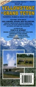 Picture of Topographic Travel Map of Yellowstone & Grand Teton
