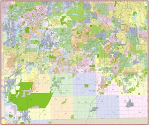 Picture of Will County Illinois Wall Map