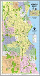Picture of Milwaukee County Wisconsin Wall Map (2016 Edition)