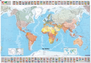 "Picture of Michelin World Wall Map - (World Map) - Blue Ocean Style - Size 56"" x 40"""
