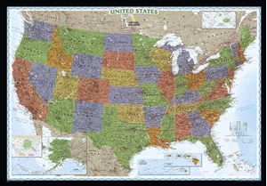 Picture of National Geographic USA Wall Map - (United States Map) - Decorator Edition