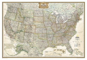 Picture of National Geographic USA Wall Map - (United States Map) - Antique Style