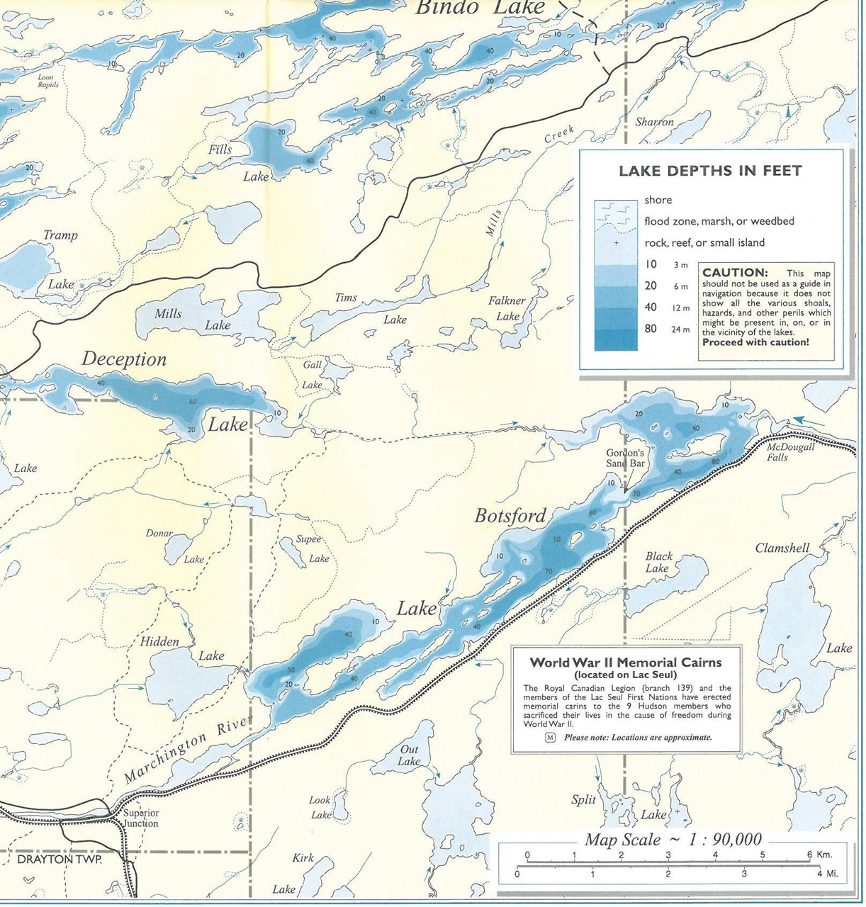 Themapstore lac seul southeast section lac seul for Lac seul fishing