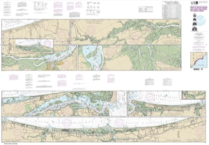 Picture of 11534 - Intracoastal Waterway - Myrtle Grove Sound And Cape Fear River To Casino Creek Nautical Chart