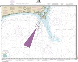 Picture of 11536 - Approaches To Cape Fear River Nautical Chart
