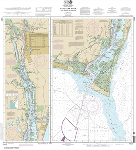 Picture of 11537 - Cape Fear River - Cape Fear To Wilmington Nautical Chart