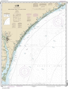 Picture of 11539 - New River Inlet To Cape Fear Nautical Chart