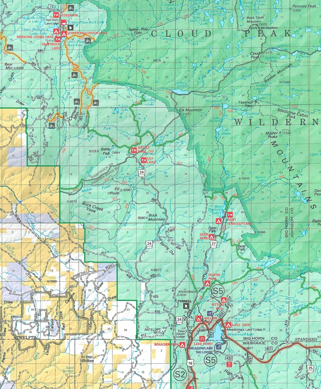 TheMapStore  Bighorn National Forest Wyoming
