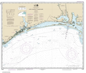 Picture of 11543 - Cape Lookout To New River Nautical Chart