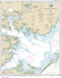 Picture of 11548 - Pamlico Sound - Western Part Nautical Chart