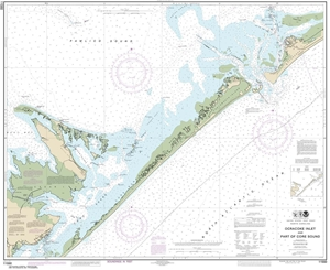Picture of 11550 - Ocracoke Inlet And Part of Core Sound Nautical Chart