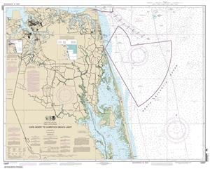 Picture of 12207 - Cape Henry To Currituck Beach Light Nautical Chart