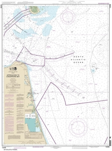 Picture of 12208 - Approaches To Chesapeake Bay Nautical Chart